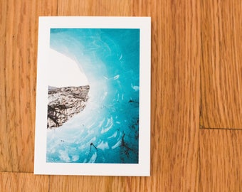 Ice Cave in Norway, Travel Photo Card with envelope, Blank Inside