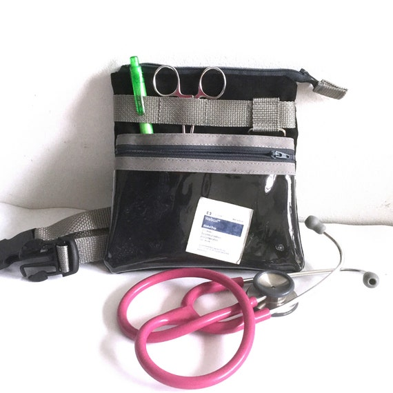 Nursing student Vet tech Nurse organize fanny pack with a zipper clear pocket Gift for Nurse teacher