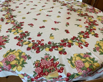 5931c80fb Printed OVAL Cotton Tablecloth