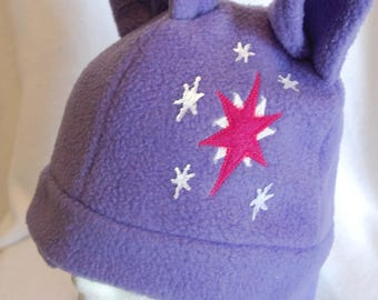 Twilight Sparkle Fleece Hat   MLP   My Little Pony   My Little Pony  Friendship is Magic  Twilight Sparkle   MLPFIM   Fleece Hat   Winter Hat 7be3a1a391f
