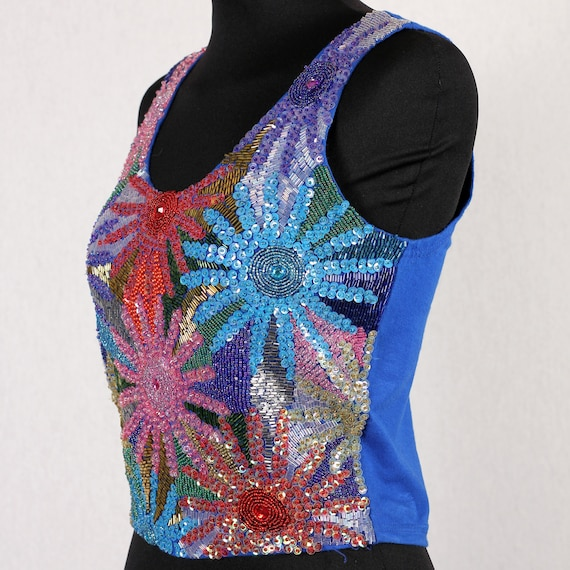 1980s Vintage bustier with sequins - image 2