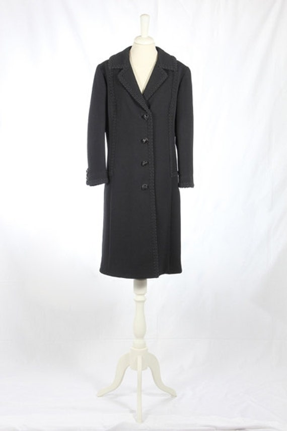 1960s Vintage black coat