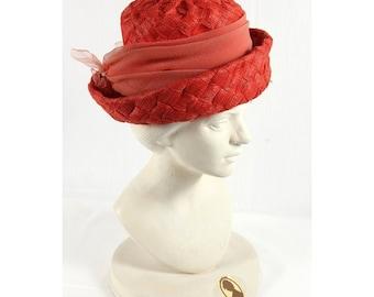 1960s Vintage summer straw hat