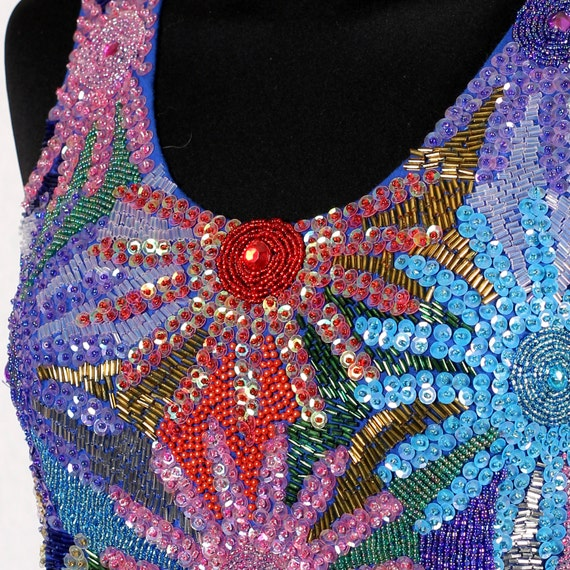 1980s Vintage bustier with sequins - image 3