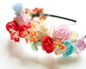 RESERVED Picnic at the Hanging Rock Flower Crown Headband One of a Kind