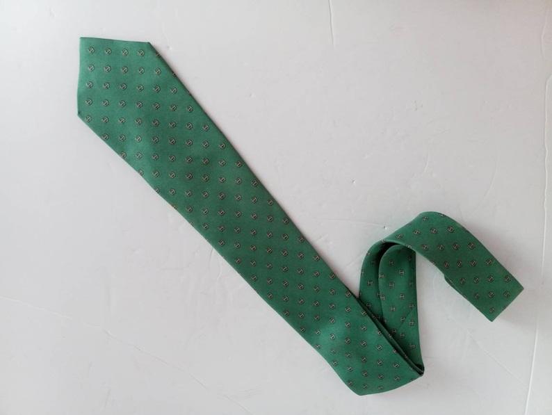 Vintage Herm\u00e8s Mens tie French made 100/% silk
