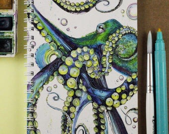 Blue Octopus Notebook