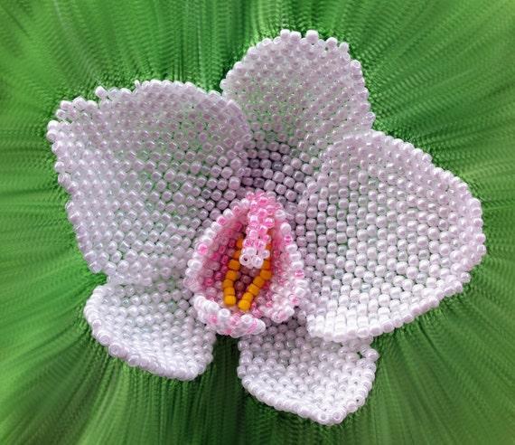 Patroon En Tutorial Voor Beaded Orchid Hoe Een Orchidee Etsy