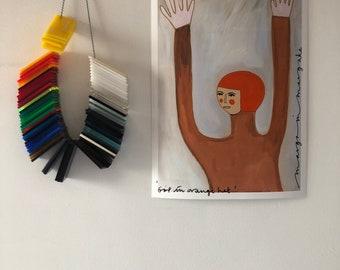 Girl in orange hat A4.(146)