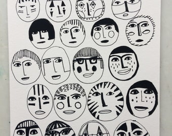 A5 Print. Masks..