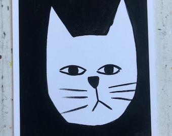 White Cat A4 Print (243)