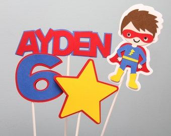 Superhero Centerpieces-Set of 4