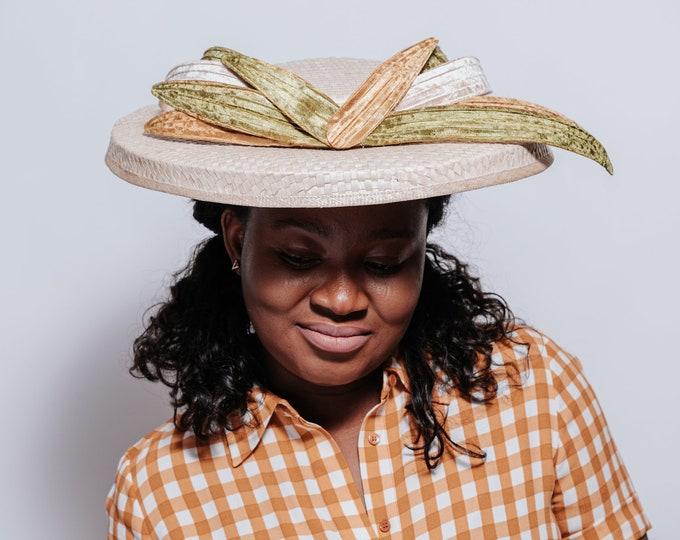 Kentucky derby hats for women, cream derby fascinator, Ascot derby hat, tea party hat, kentucky races hat, high tea hat, luncheon hat