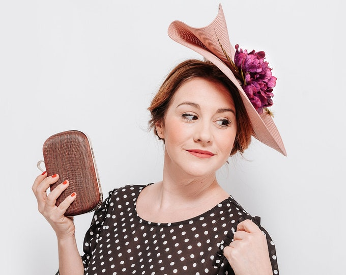 Kentucky derby hat, ascot derby hat, tea party hat, floral derby hat, kentucky races hat, wedding guest hat, women hats and fascinators