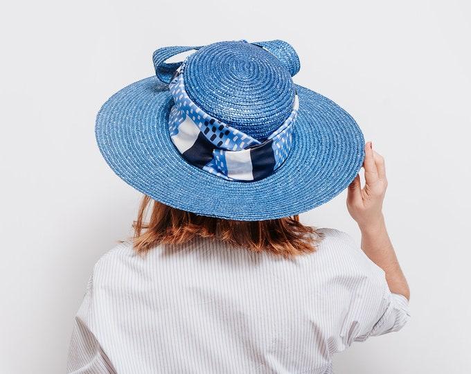 Women straw hat, straw hat, sun hat women, floppy beach hat, summer honeymoon hat, kentucky ascot derby hat, wedding guest hat, boater hat