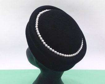 26f0c17f1d916 Black pillbox hat