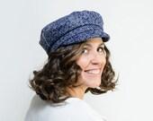 Peadar - Gorra azul de invierno con visera, sombrero invernal, regalo de Navidad, Black Friday