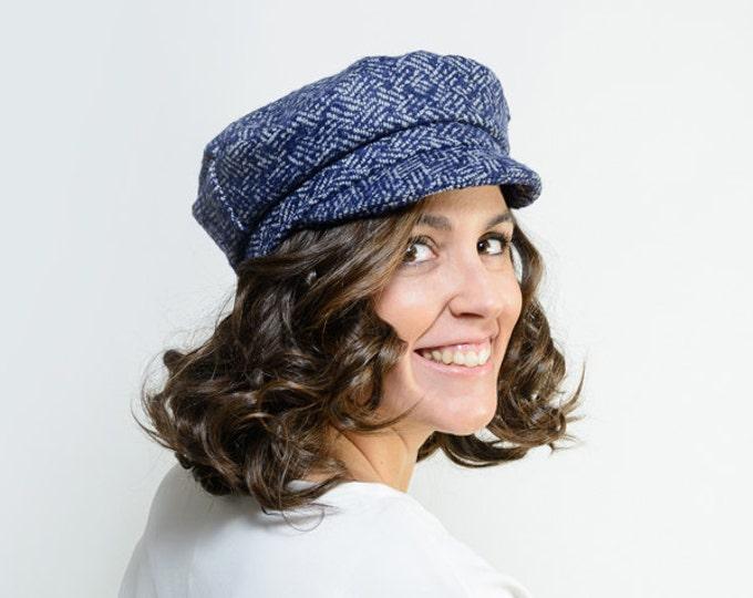 Women's newsboy hat, workers hat, baker boy hat, winter hat women, blue visor hat cap, winter wool hat, baseball hat, christmas gift her