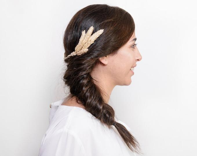 Ross - Rustic bridal hair comb, beige headpiece, light beige hairpiece, rustic wedding, woodland wedding, meadieva headband, country wedding