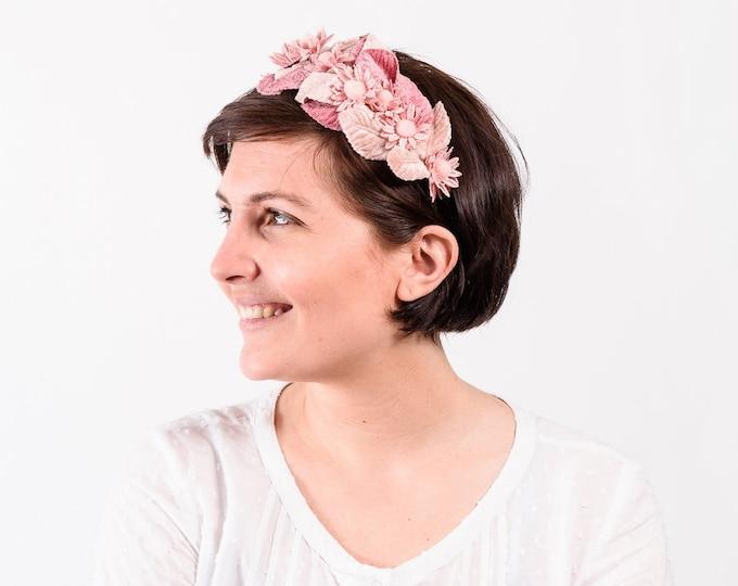 Floral headband, wedding flower crown,  bridal floral crown, boho flower crown, floral head wreath, flower crown, veil headband