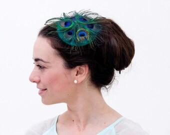 8cf011860e7 Green fascinator hat