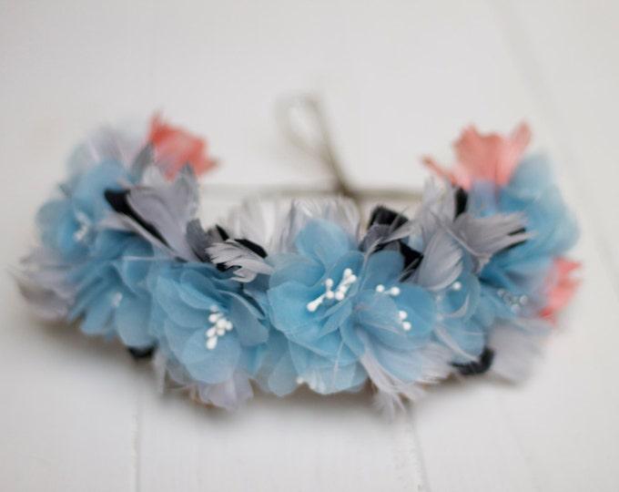 Wedding flower crown, floral headband, bridal floral crown, wedding floral crown, floral head wreath, floral headpiece, boho flower crown