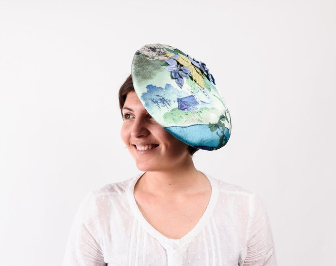 Tea party hat, Kentucky derby hat, Ascot derby hat, Fascinator hats, derby hat women, wedding guest hat, green wedding hat, races day hat