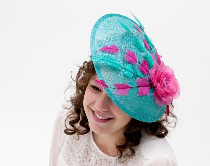 Kentucky derby hat, derby hats women, fucshia ascot hat, derby hat, tea party hat, pink fascinator, fuchsia wedding fascinator hats