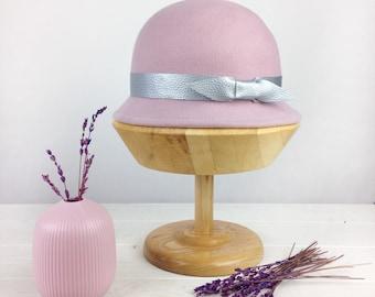 Bowler hat, 1920s cloche hat, winter wool felt hat, vintage style hat, felt har for women, formal hat, christmas gift her
