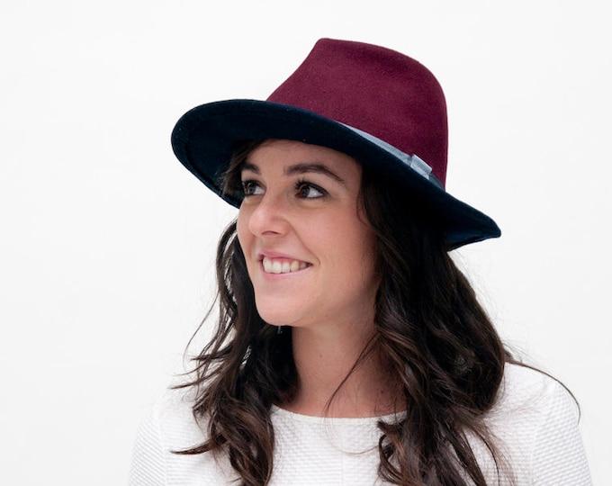 Fedora felt hat, wide brim hat, felted hat, Borsalino, women felt hat, women floppy hat, fedora hats women
