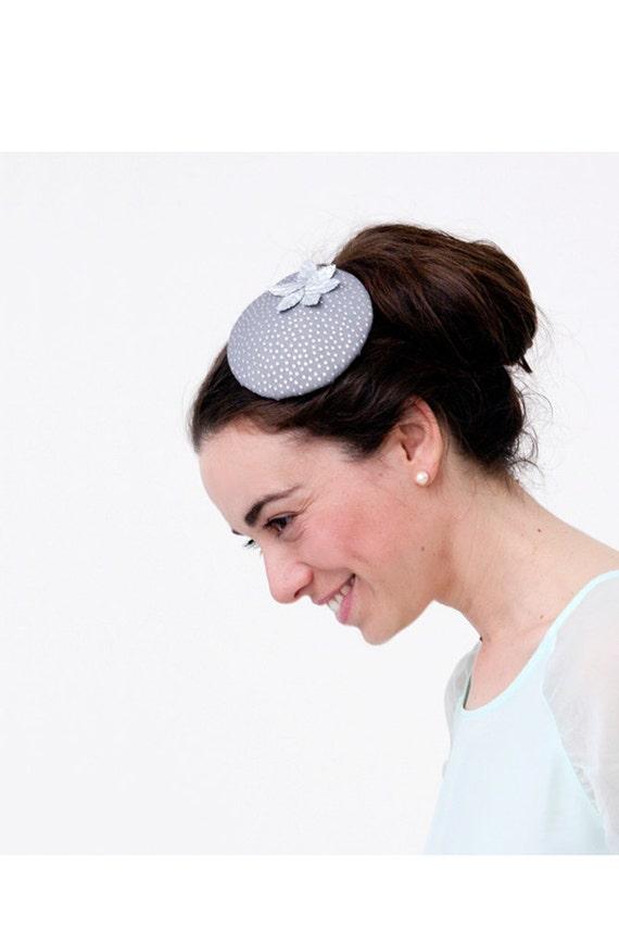 Pillbox hat silver fascinator ascot hat derby headpiece  88b7d9876cb