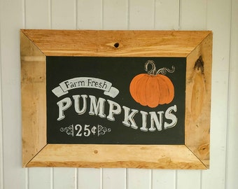 Chalkboard Style Harvest Sign ~ Reclaimed Farmhouse, Cottage Chic Home Decor