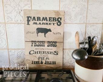 Farmhouse Farmers Market on Reclaimed Barn Wood  ~ Rustic, Cottage, Home Decor