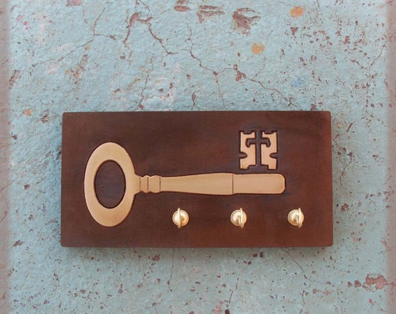 KEY - Key Shaped  Key Hook -Wooden Key Holder - Totally Handmade