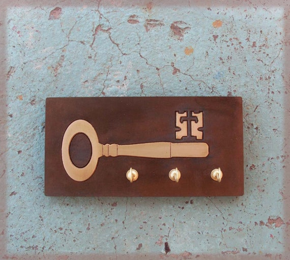 KEY - Key Shaped  Key Hook -Wooden Key Holder - Totally Handmade