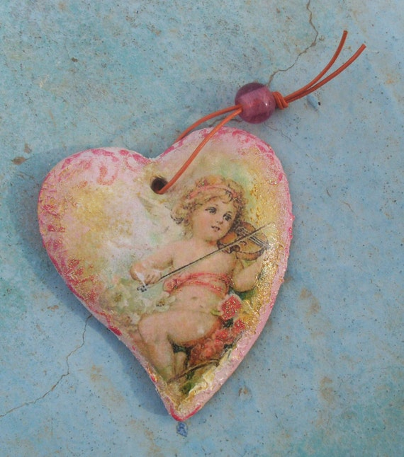 ANGEL HEART-  Angel Heart Decor - Angel Heart Gift - Ceramic Heart  - Ceramic - Ceramic Pottery - Home Decor - Home Decoration