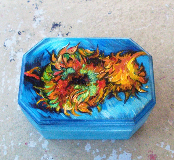 Wooden Box, Wooden Crates, Wooden Storage Boxes, Wooden Keepsake Box, Memory Box, Keepsake Box, SUNFLOWERS