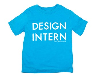 Design Intern Toddler Tee - teal