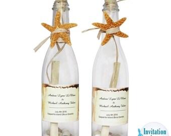 bottle invitations etsy