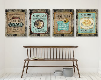 Rustic Kitchen Wall Decor Etsy