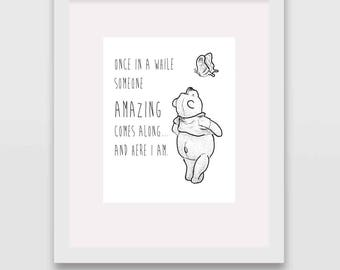 Someone Amazing Classic Winnie the Pooh Nursery Wall Art INSTANT DOWNLOAD