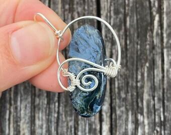 Lavender Aura Crystal Pendant by Maya Canyon