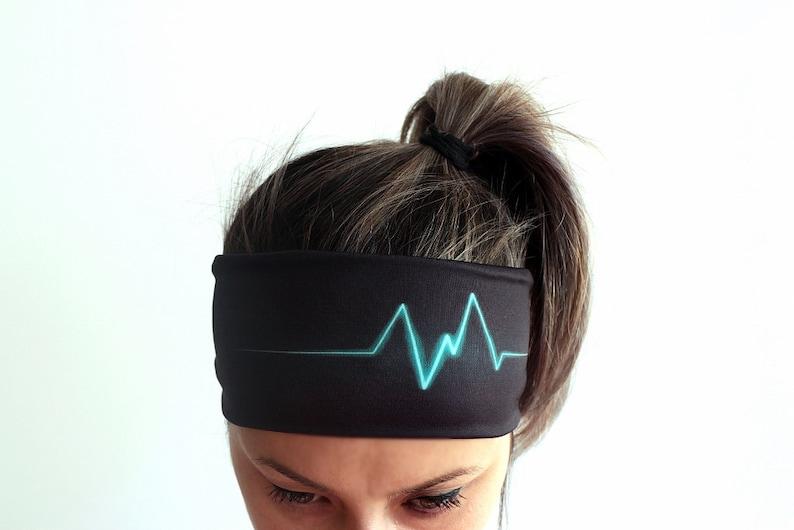 Yoga Headband Fitness Headband Workout Headband Running Boho image 0