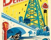 Beaumont Texas Vintage Art Poster - Lance LaRue Art