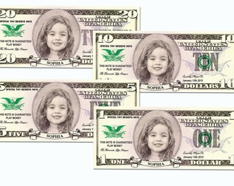 photo regarding Printable Play Money $100 identify Engage in fiscal Etsy