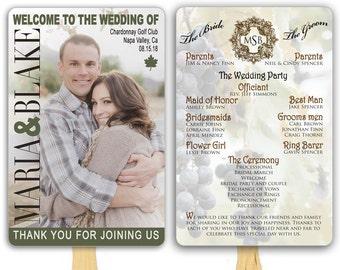 Photo Wedding Program Fans Magazine Cover Fully Assembled Custom Paddle