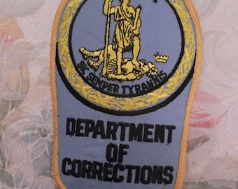 Vintage Virginia Department Of Corrections Patch