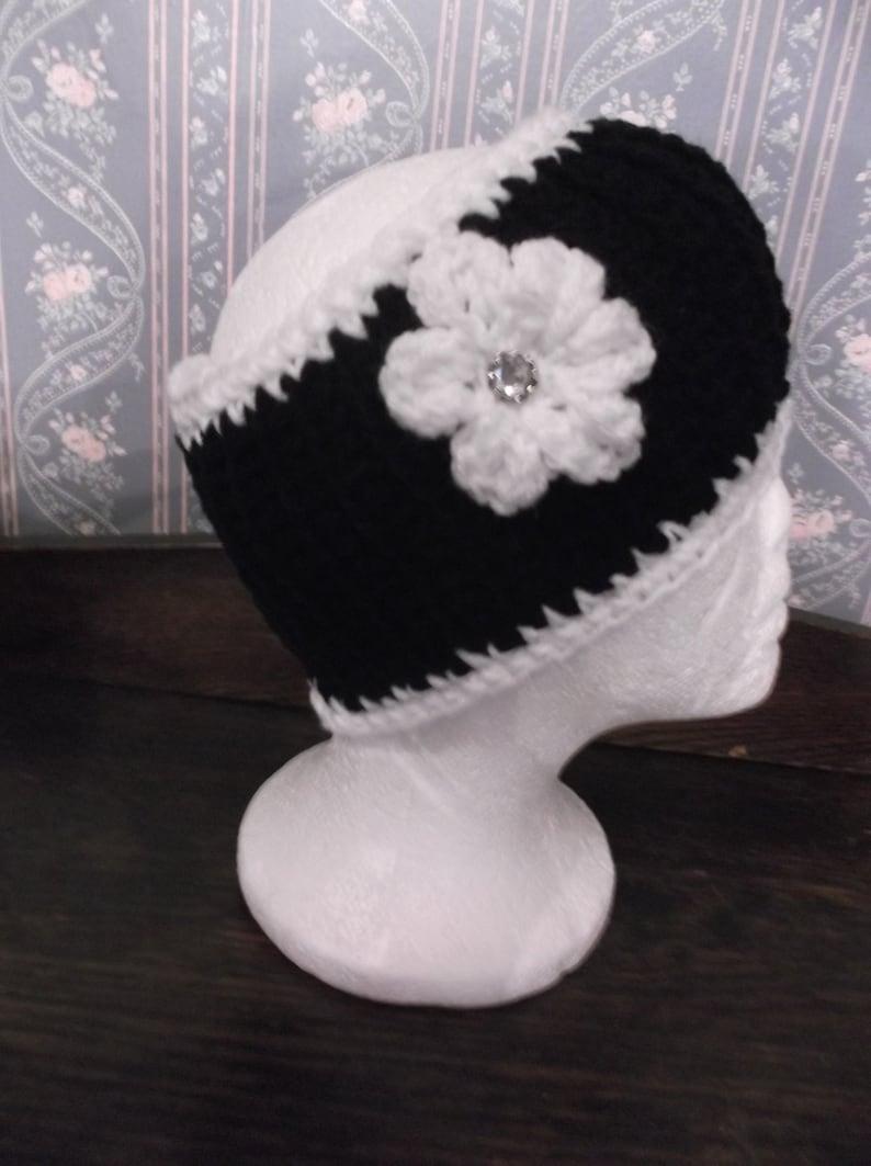 Cute And Trendy BlackWhite Handmade KnittedCrochet Ladies Headband Ear Warmers