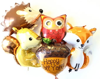 Woodland Animal Balloons, Woodland Animal Theme, Woodland Baby Shower, Woodland Animal Party, Woodland Birthday Party, Woodland Balloons