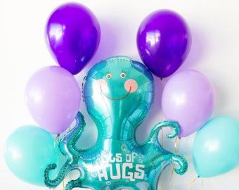 Under the Sea Party Decorations, Baby Shower, Birthday Party, Mermaid Birthday, Party Supplies, Mermaid Balloon, Foil Balloon, 1st Birthday